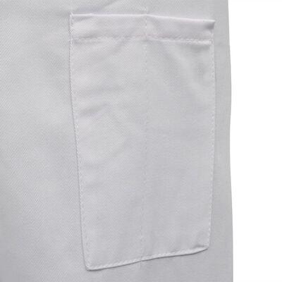 vidaXL Σακάκια Σεφ 2 τεμ. Μακρυμάνικα Λευκά Μέγεθος XL