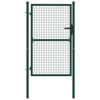 vidaXL Πόρτα Περίφραξης Πράσινη 100 x 125 εκ. Ατσάλινη
