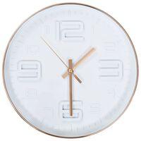 vidaXL Ρολόι Τοίχου Χάλκινο Χρώμα 30 εκ.