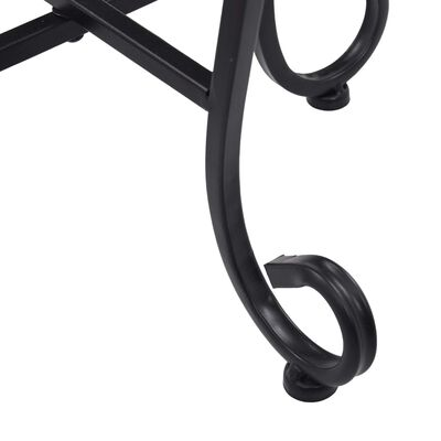 vidaXL Τραπεζάκια «Μωσαϊκό» 3 τεμ. Μαύρο/Λευκό Κεραμικά