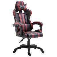 vidaXL Καρέκλα Gaming Μπορντό από Συνθετικό Δέρμα