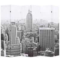 vidaXL Διαχωριστικό Δωματίου Μέρα στη Νέα Υόρκη Ασπρόμαυρο 228x170 εκ.