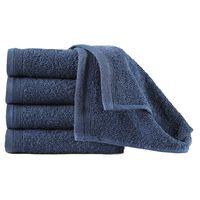 vidaXL Πετσέτες Επισκεπτών 10 τεμ. Ν.Μπλε 450 γρ./μ² 30x50 εκ. Βαμβάκι
