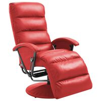 vidaXL Πολυθρόνα Ανακλινόμενη Κόκκινη από Συνθετικό Δέρμα