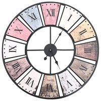 vidaXL Ρολόι Τοίχου Vintage XXL 60 εκ. με Μηχανισμό Quartz