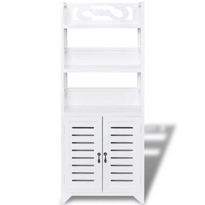 vidaXL Ντουλάπι Μπάνιου Albuquerque Λευκό 46 x 24 x 117,5 εκ. Ξύλινο