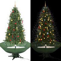 vidaXL Χριστουγεννιάτικο Δέντρο που Χιονίζει Πράσινο 190 εκ. με Βάση