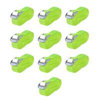 vidaXL Ιμάντες Πρόσδεσης 10 τεμ. Φωσφ. Πράσινο 0,25 Τόνων 5 x 25 χιλ.