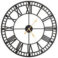vidaXL Ρολόι Τοίχου Vintage XXL 60 εκ. Μεταλλικό με Μηχανισμό Quartz