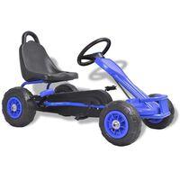 vidaXL Go Kart με Πετάλια και Λάστιχα Πεπιεσμένου Αέρα Μπλε