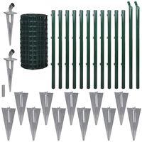 vidaXL Συρματόπλεγμα Σετ Πράσινο 25 x 1,7 μ. Ατσάλινο