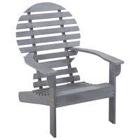 vidaXL Καρέκλα Adirondack Γκρι από Μασίφ Ξύλο Ακακίας
