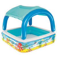 Bestway Πισίνα Παιδική με Σκίαστρο Μπλε 140 x 140 x 114 εκ. 52192