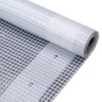 vidaXL Μουσαμάς με Ύφανση Leno Λευκός 2 x 10 μ. 260 γρ./μ²