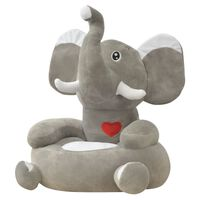 vidaXL Πολυθρόνα Παιδική Ελέφαντας Γκρι Λούτρινη