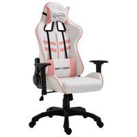vidaXL Καρέκλα Gaming Ροζ από Συνθετικό Δέρμα