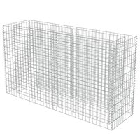 vidaXL Συρματοκιβώτιο-Γλάστρα Υπερυψωμένη 180x50x100 εκ. Γαλβ. Χάλυβας