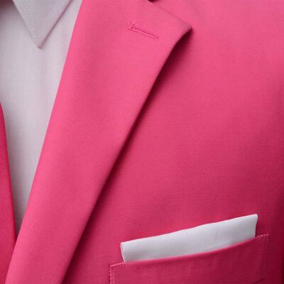 vidaXL Κοστούμι Ανδρικό Δύο Τεμαχίων Ροζ Μέγεθος 52 με Γραβάτα