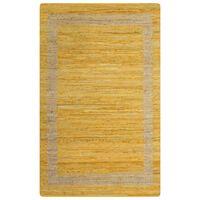 vidaXL Χαλί Χειροποίητο Κίτρινο 160 x 230 εκ. από Γιούτα