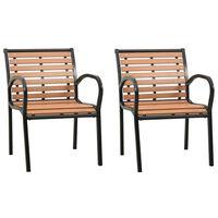 vidaXL Καρέκλες Κήπου 2 τεμ. από Ξύλο