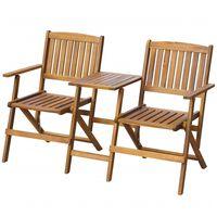 vidaXL Κάθισμα Κήπου Πτυσσόμενο με Τραπέζι 140 εκ. Μασίφ Ξύλο Ακακίας