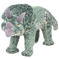 vidaXL Δεινόσαυρος Τρικεράτωψ σε Όρθια Στάση Πράσινος XXL Λούτρινος