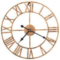 vidaXL Ρολόι Τοίχου Χρυσό 40 εκ. Μεταλλικό