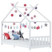 vidaXL Πλαίσιο Κρεβατιού Παιδικό Λευκό 80 x 160 εκ. Μασίφ Ξύλο Πεύκου
