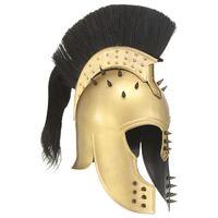 vidaXL Κράνος Πολεμιστή Αρχαιοελληνικό Ρέπλικα Αντικέ για LARP Μπρονζέ