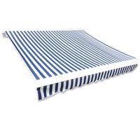 Τεντόπανο Μπλε & Λευκό 4 x 3 μ. Καραβόπανο (Χωρίς Πλαίσιο)