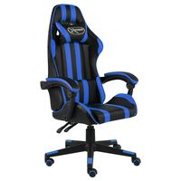 vidaXL Καρέκλα Racing Μαύρο / Μπλε από Συνθετικό Δέρμα