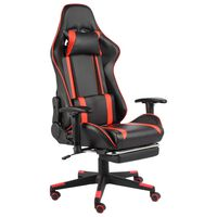 vidaXL Καρέκλα Gaming Περιστρεφόμενη με Υποπόδιο Κόκκινη PVC