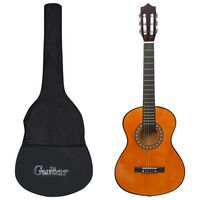 "vidaXL Κλασική Κιθάρα για Αρχάριους & Παιδιά 1/2 34"" με Θήκη"