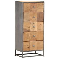 vidaXL Συρταριέρα 45x30x100 εκ. από Μασίφ Ανακυκλωμένο Ξύλο