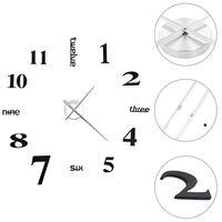 vidaXL Ρολόι Τοίχου Τρισδιάστατο Μοντέρνο Μαύρο 100 εκ. XXL