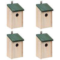 vidaXL Φωλιές Πουλιών 4 τεμ. 12 x 12 x 22 εκ. Ξύλινες