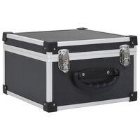 vidaXL Βαλίτσα Μεταφοράς για 40 CD Μαύρη από Αλουμίνιο και ABS
