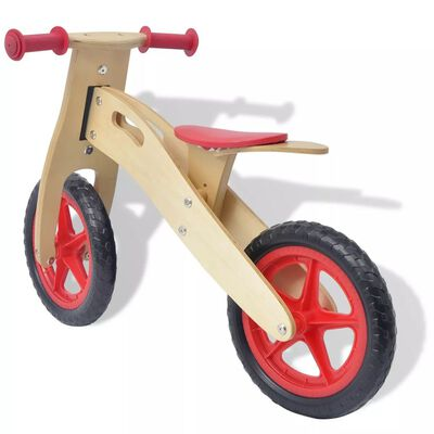 vidaXL Ποδήλατο Ισορροπίας Κόκκινο Ξύλινο