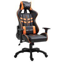 vidaXL Καρέκλα Gaming Πορτοκαλί από Συνθετικό Δέρμα