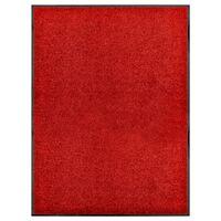 vidaXL Πατάκι Εισόδου Πλενόμενο Κόκκινο 90 x 120 εκ.