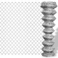 vidaXL Συρματόπλεγμα Περίφραξης Ασημί 25 x 1 μ. Γαλβανισμένο Ατσάλι