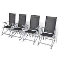 vidaXL Καρέκλες Κήπου Πτυσσόμενες 4 τεμ. Αλουμινίου