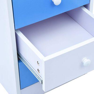 vidaXL Γραφείο Παιδικό με Ανακλινόμενη Επιφάνεια Μπλε και Λευκό