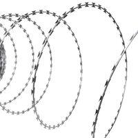 Αγκαθωτό Σύρμα Τύπου ΝΑΤΟ από Γαλβανισμένο Χάλυβα Ρολό 100 m