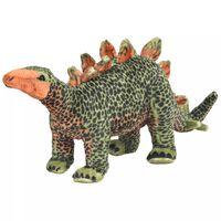vidaXL Δεινόσαυρος Στεγόσαυρος Όρθιος Πράσινο/Πορτοκαλί XXL Λούτρινος