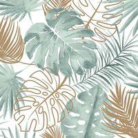 DUTCH WALLCOVERINGS Ταπετσαρία Τοίχου Φύλλα Μονστέρα Πράσινη