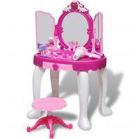 Τουαλέτα Ομορφιάς Παιδική Δαπέδου με 3 Καθρέπτες με Φωτισμό/Ήχο