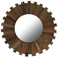 vidaXL Καθρέφτης Τοίχου 70 εκ. από Μασίφ Ανακυκλωμένο Ξύλο