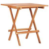 vidaXL Τραπέζι Bistro Πτυσσόμενο 60 x 60 x 65 εκ. από Μασίφ Ξύλο Teak
