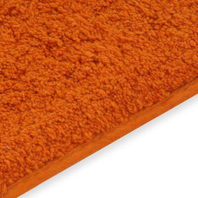 vidaXL Σετ Πατάκια Μπάνιου 2 τεμ. Πορτοκαλί Υφασμάτινα